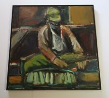 GORDON 1960'S ABSTRACT PAINTING PORTRAIT MODERNISM BAY AREA STYLE FIGURE VINTAGE