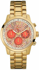 New Guess W0330L11 Pink Gold Tone Chronograph Women's Watch