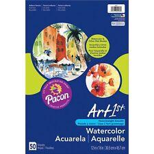 """Pacon Watercolor Paper 90lb. 12""""x18"""" 50SH/PK White 4927"""
