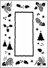 Christmas Trees Frame - Crafts Too A6 Embossing Folder CTFD3035