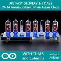 IN-14 Shield NCS314 Arduino Nixie Clock [TUBES COLUMNS] FAST DELIVERY 3-5 Days