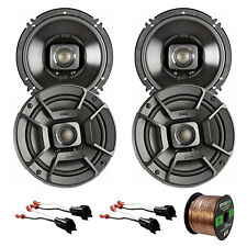 "4x Polk Audio 6.5"" 300W Car/Boat/ATV Speakers, 4x Adapter (Ford), 50' Wire"