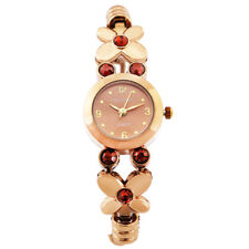 Womens Ladies Bronze Stainless Watches Elegant Waterproof Wrist Watches TTG42