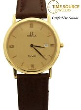 Vintage Omega DeVille 18K Yellow Gold 32mm Quartz Watch