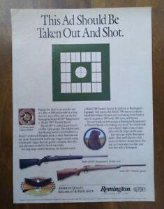 1991 Remington Model 40-XB Rangemaster Rifle Model 700 Photo Vintage Print Ad