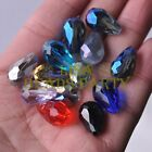 New 10pcs 18X12mm Big Teardrop Faceted Spacer Loose Glass Beads Random Mixed