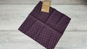 ASOS Mens Pocket Square with Polka Dot Burgundy White Accessories D452-3