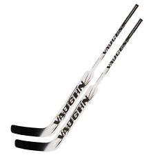 2 Vaughn 7490 composite goal stick full right 25 white new senior hockey goalie