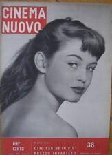BRIGITTE BARDOT COVER 1954 IN COPERTINA MAGAZINE CINEMA NUOVO TRADITA BONNARD
