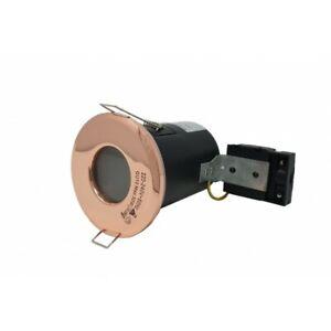 Bathroom IP65 Fire Rated GU10 Rose Gold Copper Downlight Spotlights