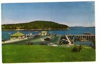 Undated Unused Postcard Bar Harbor and Municipal Pier Mt Desert Island Maine ME