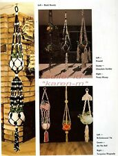 New listing Single & Multi-Plant Hangers~Macrame Pattern Book~Wall Hangings~To Knot or Not