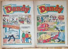 More details for 13 1960s & 1970s dandy comics bundle easter sequential issues like beano topper