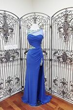 G1700 PARTY TIME 2762 ROYAL BLUE SZ 6  $378 BEADED  PROM PAGEANT GOWN DRESS
