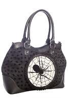 Gothic Rockabilly Punk Dragon Spider Web Spinderella Handbag Bag BANNED Apparel