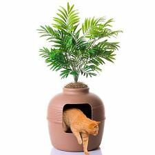 Hidden Litter Box - Cat Kitten Designer litter tray -  Looks Like a Planted Pot