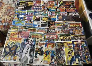 Collection 61 Comics Books Creatures On The Loose, Dazzler, Frankenstein Monster