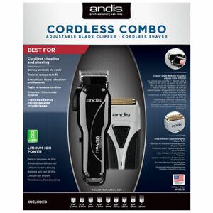ANDIS CORDLESS COMBO USPRO LI CLIPPER & PRO FOIL PLUS TS-2 SHAVER (+ CARRY CASE)