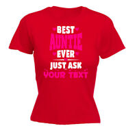 Womens Funny T Shirt Best Auntie Ask Your Text Birthday Joke tee Gift T-SHIRT