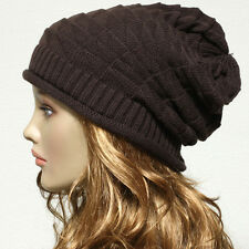 New Vintage Style Beanie Oversized Knit  Baggy Slouchy Hat Thick Unisex Cap