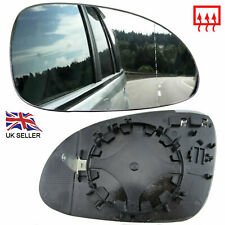 VW PASSAT B6 2005-10 WING MIRROR GLASS HEATED RIGHT OFFSIDE DRIVER CLIP ON