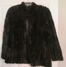 Selected MINK Brown Luxury Fur Jacket Coat Perfect Hip Length Small