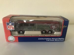 White Rose Collectibles 1:64th Scale Diecast Team Coach Bus San Francisco 49ers