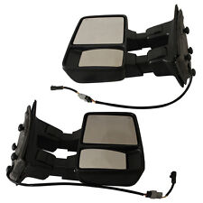Fits 03-07 Ford SD Side Mirror PAIR Towing Mirrors Power Heated With Turn Signal