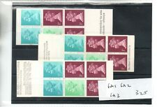 GB - Stamp Booklet - (325)  FA1, FA2 & FA3  Booklet - 3 booklets