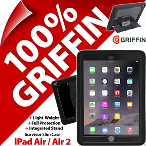 Griffin Survivor Slim Protective Tablet Case Cover for Apple iPad Air / Air 2