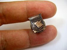 Vintage Collectible Pin: Pictorial Yearbook Staff High School Award Screwback