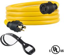 NEMA L14-30P//L14-30R RVGUARD 4 Prong 30 Amp 50 Feet Generator Locking Extension Cord 125//250 Volt 10 Gauge SJTW Generator Cordwith Generator Locking Adapter and Cord Organizer ETL Listed