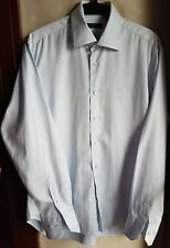 ZARA MEN'S BUTTON DOWN LONG SLEEVE DRESS SHIRT, BLUE-Eu42/Large