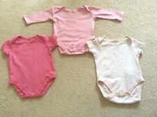 BABY GIRL 3 x PINK VESTS BODYSUITS BUNDLE AGE 3-6 MONTHS PRIMARK BLUE ZOO NUTMEG