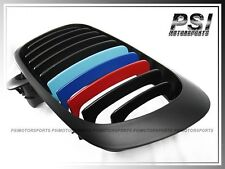 BMW 2003-2005 E46 Facelift 3-Series Matte Black w/ M Tri Color Grille (2Dr Only)