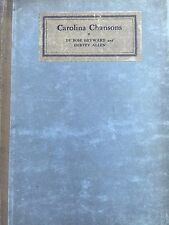 CAROLINA CHANSONS LEGENDS OF THE LOW COUNTRY BY DUBOSE HEYWARD *FIRST ED*