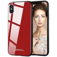 PC Glass iPhone XS, XS MAX, XR TPU Case, Protective Mirror Back Hybrid Design