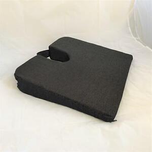 Aidapt Black Wedge Coccyx Cushion With Non Slip Back