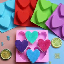4 Cell Love Heart Silicone Mould Mold Chocolate  Gummy Maker Ice Jelly Wax Melt