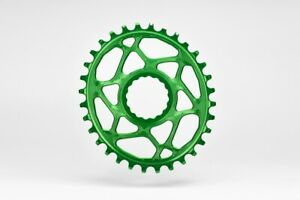 Absolute Black MTB Oval Chainring (RaceFace Cinch) (6mm offset) 32T Green