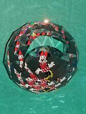 Swarovski Disney Crystal Glass Minnie Mouse Paperweight Round Gift Beautiful
