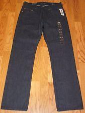 New PACSUN Bullhead Co. Mens Sz 30 x 32 SLIM STRAIGHT Jeans DARK INDIGO Coated