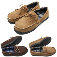 Mens Micro Suede Moccasin Slippers Flats Home Lightweight Casual Loafer Shoes