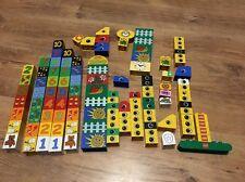 Lego Duplo Lot Of 122 Printed Logo Model Pieces Bricks Patern Eyes Numbers