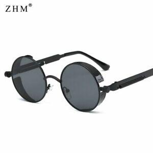 Metal Steampunk Sunglasses Men Women Fashion Round Glasses Vintage UV400 Eyewear
