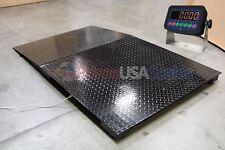 Heavy Duty Floor Scale 48x48 Platform 7500 Lb X 1 Lb With Indicator Ramp