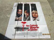 UNE SAISON BLANCHE UNE S Affiche cinéma originale pliée f:120x160 Année 1989 TBE