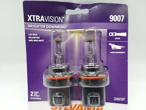 Sylvania XtraVision 9007 Halogen Headlight Bulbs (Pack of 2) NEW