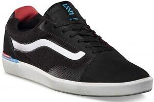 Vans Locus Men's Lace Up Trainers Skate Shoes Black UAQ458 UK Size 6.5