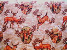 2 Yards of Deer Cotton Quilting Fabric